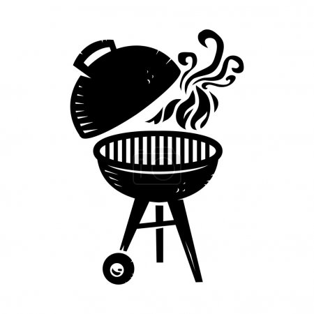 Illustration for Vector illustration of a barbecue grill - Royalty Free Image
