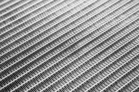 Car radiator close up