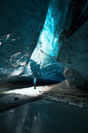 Small figure of man in Icecave