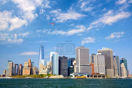 Photo for Lower Manhattan urban skyscrapers, New York City - Royalty Free Image