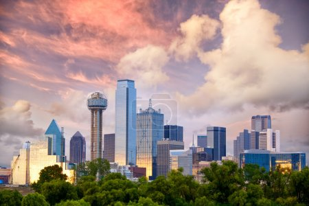 Photo for Dallas City skyline at sunset, Texas, USA - Royalty Free Image