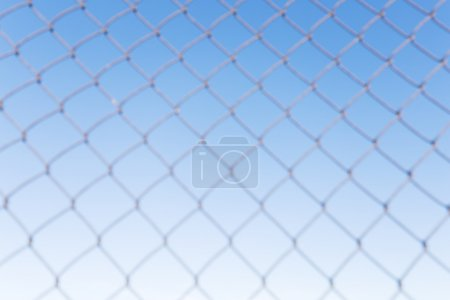 steel net with blue sky background