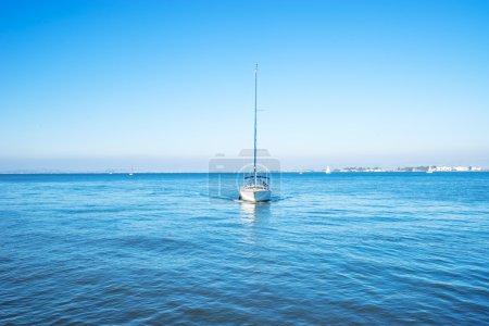 luxury sail boat on sea