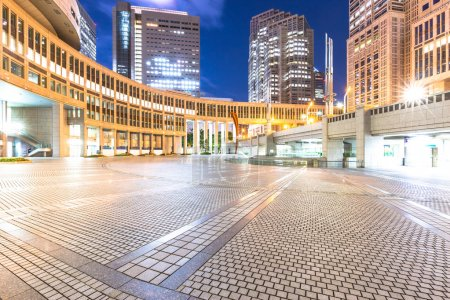 floor with office buildings in downtown of Tokyo