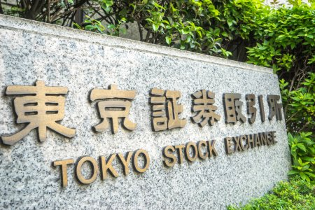 stone board with Tokyo stock exchange