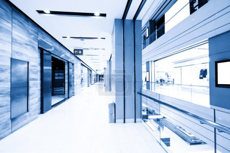 empty corridor in modern shopping mall