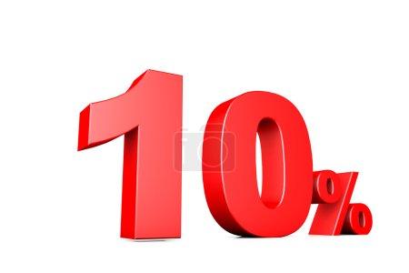 3d illustration business number 10 percent