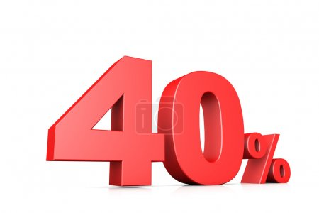 3d illustration business number 40 percent