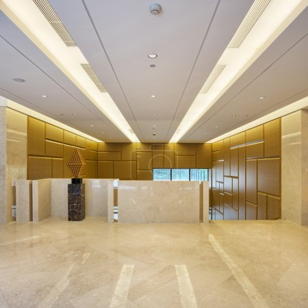 Modern office, corridor with top grade decoration