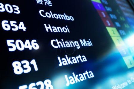 Flight Information Board of Airport