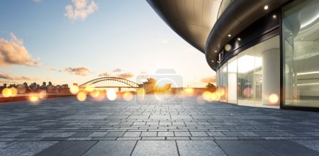 Photo for Architecture with sydney cityscape background. - Royalty Free Image