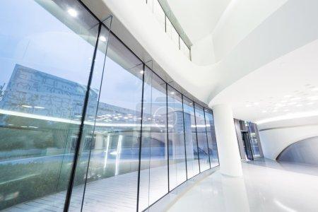 Futuristic modern office building interior