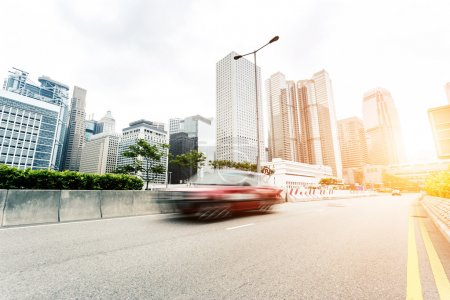 Photo for Cityscape and traffic trails on the road of modern city - Royalty Free Image