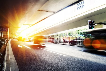 Photo for Urban city traffic and road - Royalty Free Image