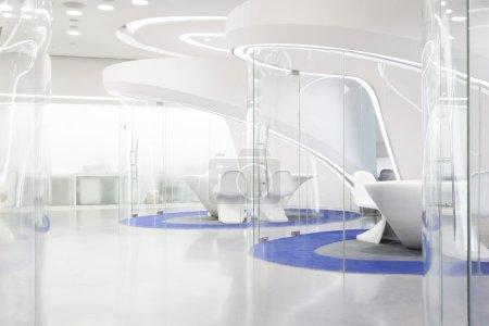 modern futuristic concept office interior