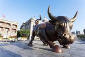 Copper Bull statue