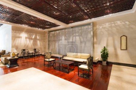 Photo pour Modern hotel interior and lobby - image libre de droit
