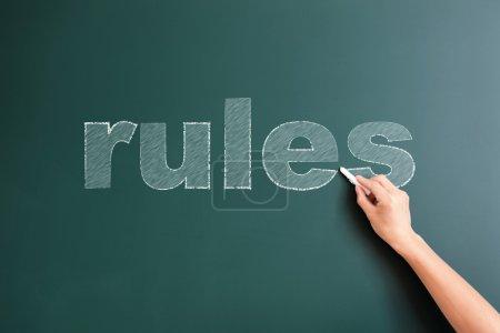 rules written on blackboard