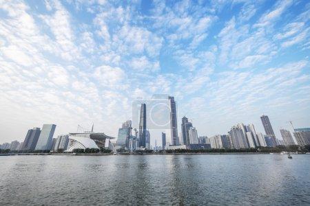 skyline and cityscape of modern city Guangzhou
