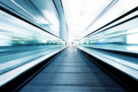 Photo for Fast motion of escalator - Royalty Free Image