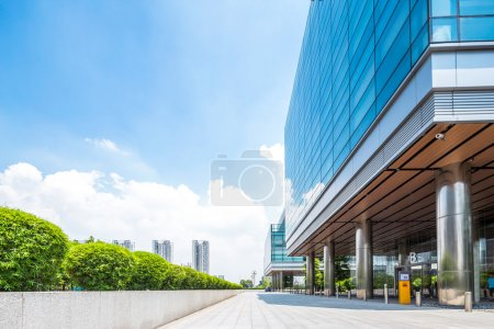 Photo for Empty road near modern building exterior - Royalty Free Image