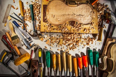 carpenter tools on wooden board