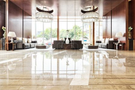 luxury hotel lobby and funiture