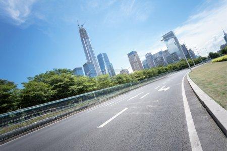 asphalt road of a modern city