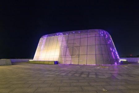 modern building at night