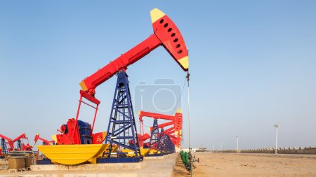 oilfield with many pump units