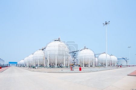 Photo pour Paysage de dépôt d'huile - image libre de droit