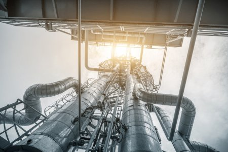 Photo for Structure of oil refinery plant - Royalty Free Image