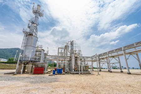 equipment, pipeline and tank of oil refinery plant