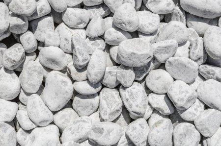 Photo pour Texture de gravier de pierre blanche pour votre fond - image libre de droit