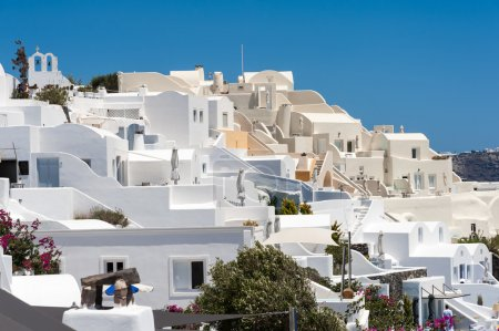Close up of traditional Oia homes in Santorini
