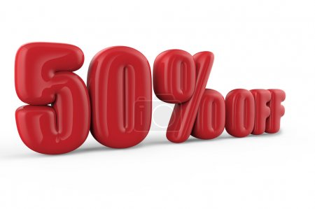 50% off text