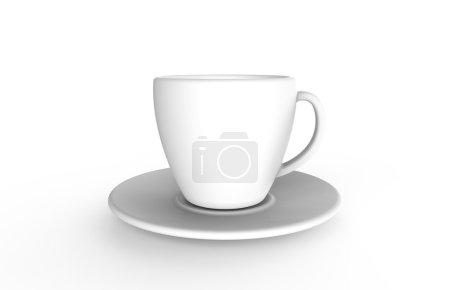 Photo pour Tasse de café blanc isolé sur un fond blanc - image libre de droit