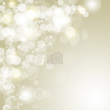 Lights on gold background