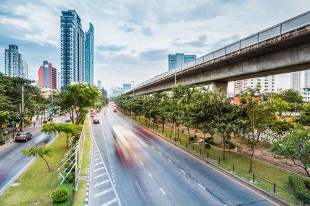 metropolitan cityscape of bangkok