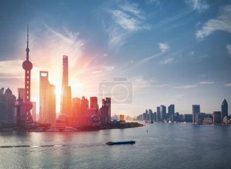 Шанхай с рекой Хуанпу