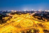 interchange road at night