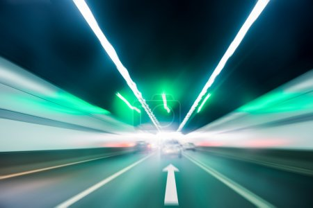 Photo for Tunnel inside scene , background of the fast moving forward - Royalty Free Image