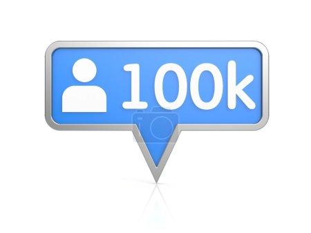 Followers - social network icon