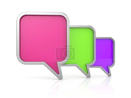 Photo pour Icône de bulles de discours. illustration 3D - image libre de droit