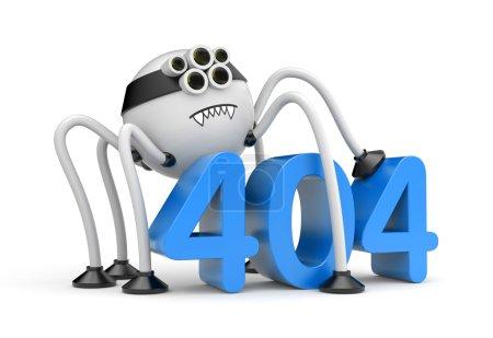 spider and 404 error