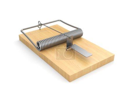 Empty wooden mousetrap
