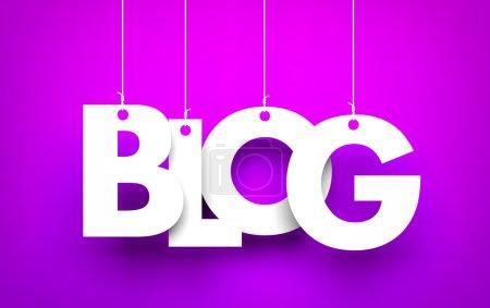 Blog - word hanging