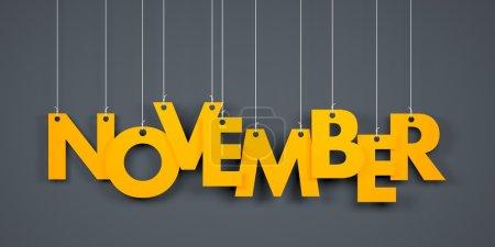 November  - word hanging