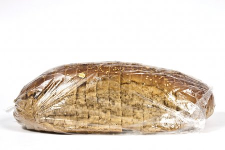 Packaged in plastic bread