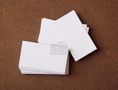 3d rendered stack business cards mockup